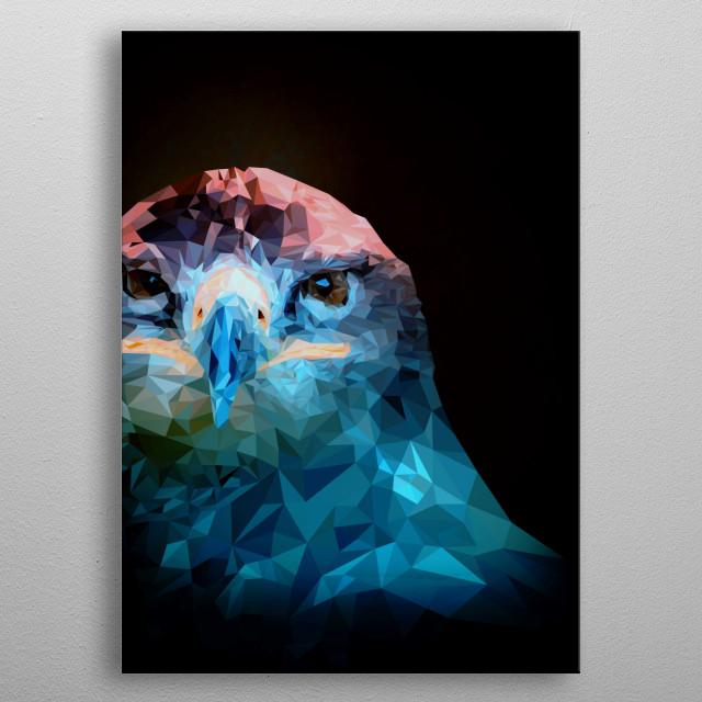 Eagle Lowpoly Art Design  metal poster