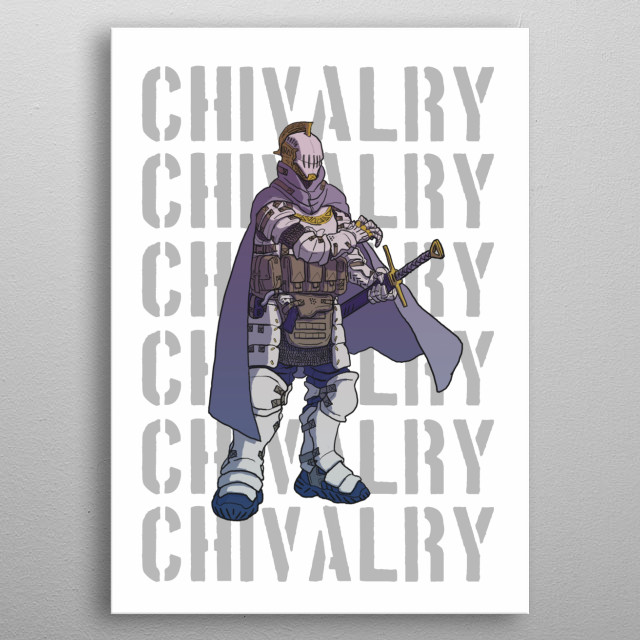 One of many vigilante that observing the shady district of Neo Edo. Infamously known as Shiromaru the trigger-happy knight. metal poster