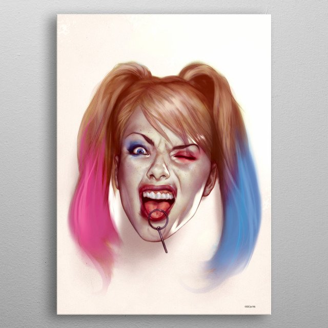High-quality metal print from amazing Harley Quinn collection will bring unique style to your space and will show off your personality. metal poster