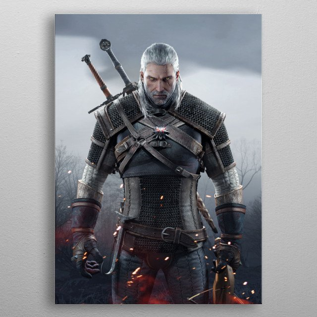 The Witcher metal poster