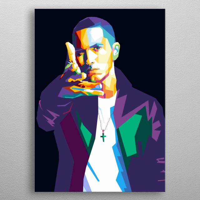 Eminem in wpap art metal poster