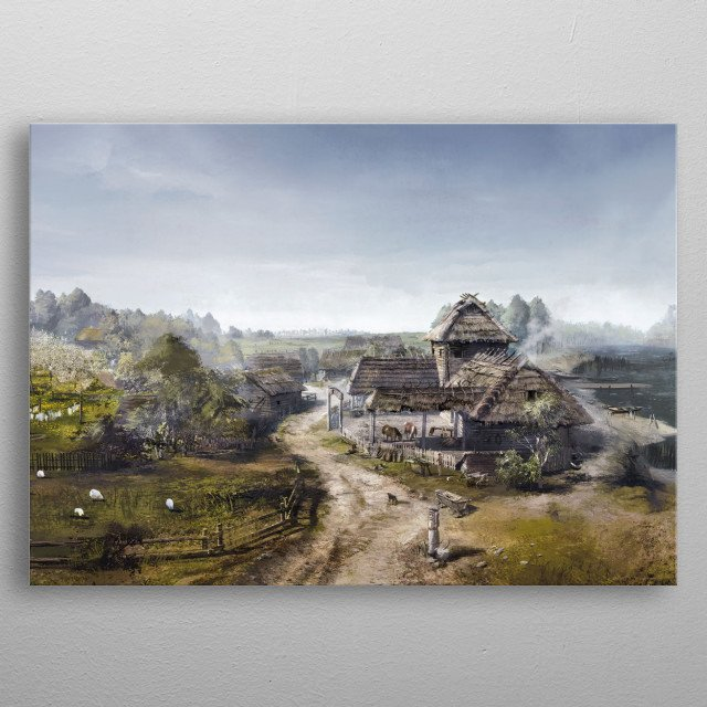 Fascinating metal poster designed by Witcher 3  . Displate has a unique signature and hologram on the back to add authenticity to each design. metal poster