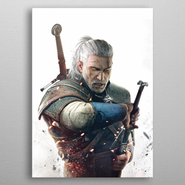 Geralt metal poster