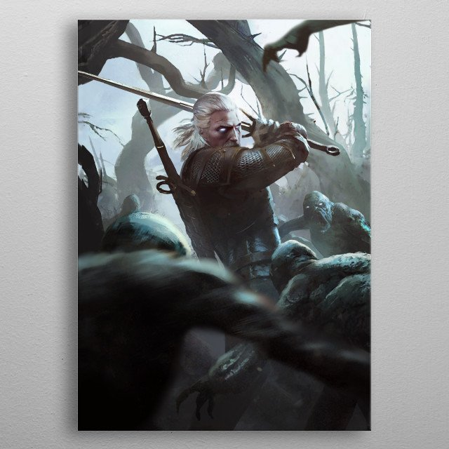 Fascinating metal poster designed by GWENT. Displate has a unique signature and hologram on the back to add authenticity to each design. metal poster