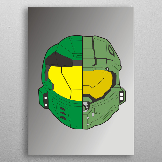 Master Chief Helmet Change Military Poster Print Metal