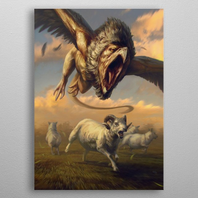Griffin metal poster