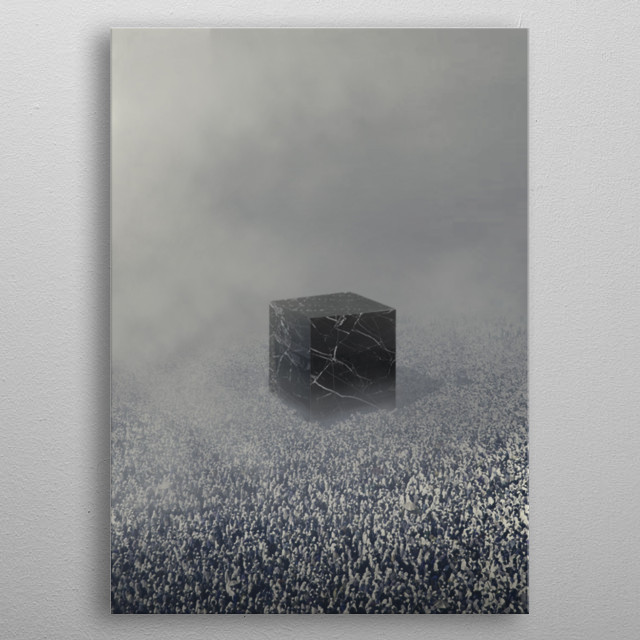 The Second work in the Grid series.  metal poster