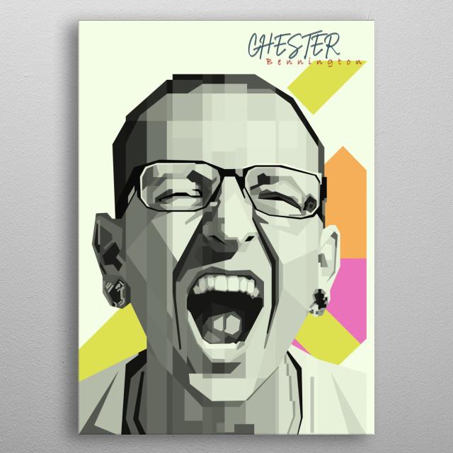 Chester Bennington pop art metal poster