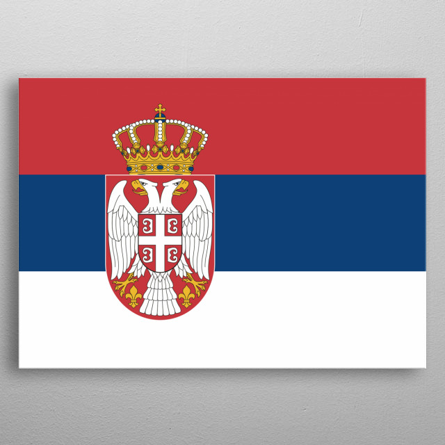 Serbian flag, the best country in the whole world. metal poster