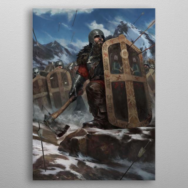 Mahakaman Defenders metal poster