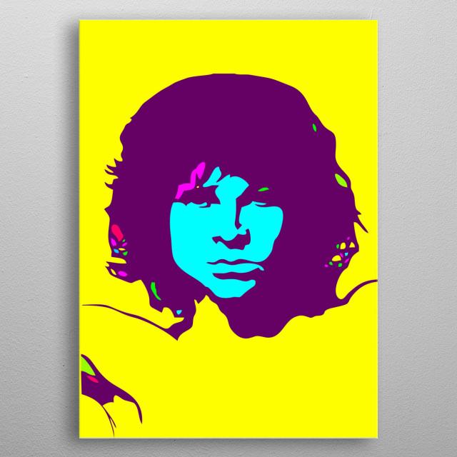 Jim Morrison poster art.  A very basic yet classy silhouette art of the legendary Jim Morrison. metal poster