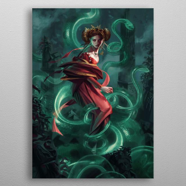 Francesca metal poster