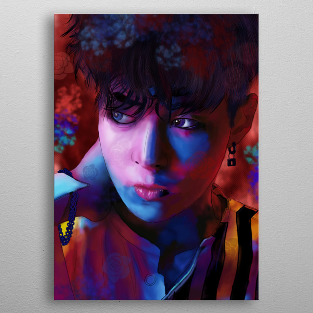 Xiumin is a South Korean singer and actor. He is best known as a member of the South Korean-Chinese boy band Exo, its sub-unit Exo-CBX. metal poster