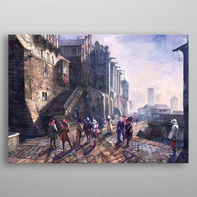 High-quality metal print from amazing Wild Hunt Concept Arts collection will bring unique style to your space and will show off your personality. metal poster