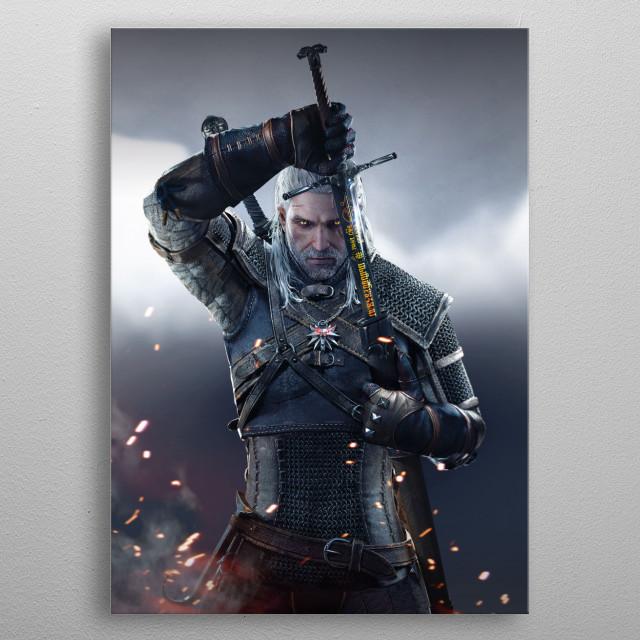 Geralt Sword metal poster