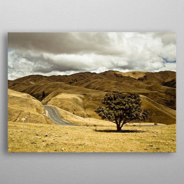 Countryside Beautiful Landscape metal poster
