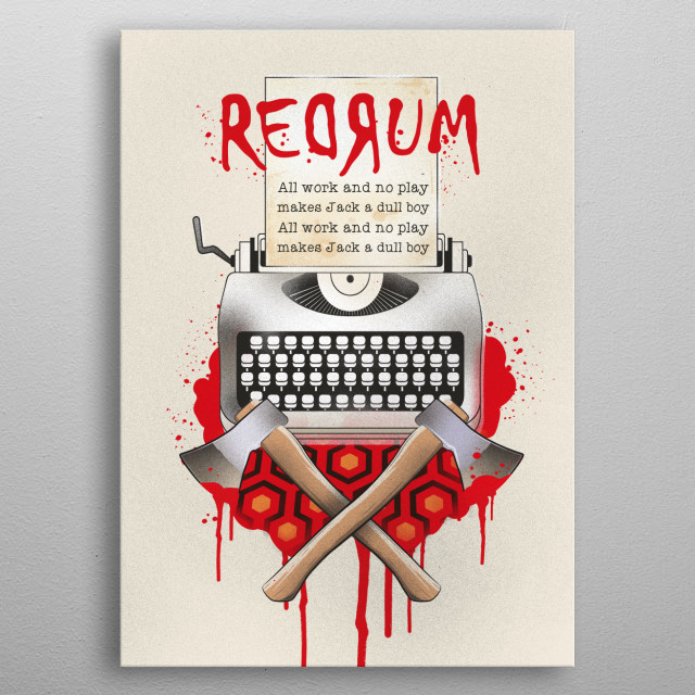 The Shining redrum art prin metal poster