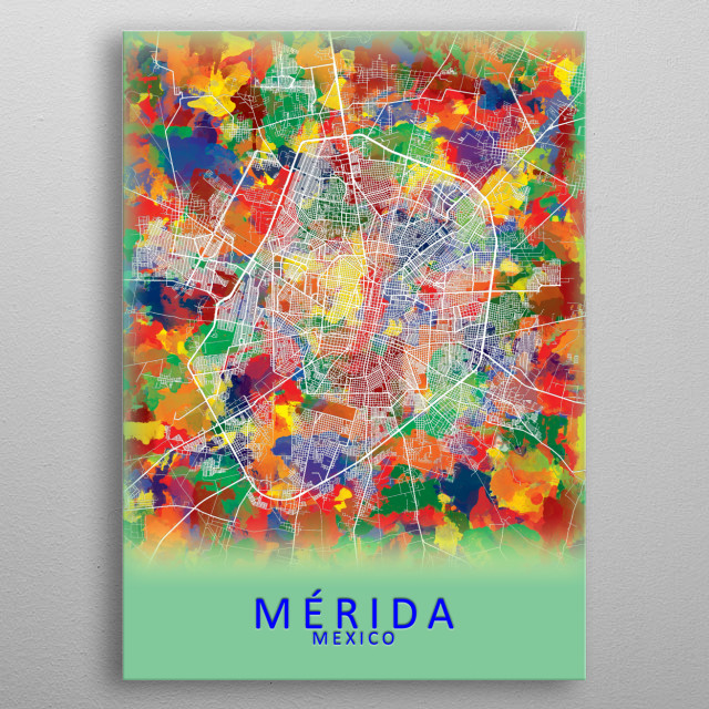 High-quality metal print from amazing Colour Splash City Maps collection will bring unique style to your space and will show off your personality. metal poster