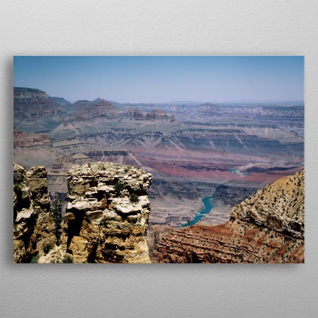 Grand Canyon River View  metal poster