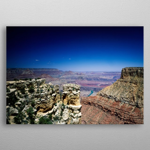 View of the Grand Canyon from the South Rim  metal poster
