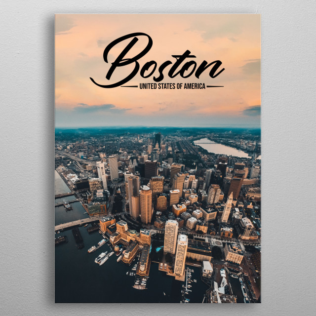 Boston - United States of America metal poster