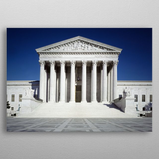 United States Supreme Court Building  metal poster