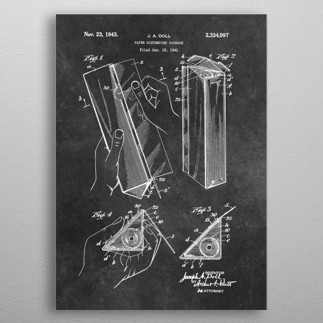 patent Doll paper dispensing package 1941 metal poster