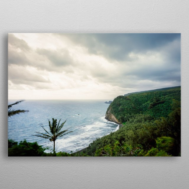 Unspoiled north shore of Hawaii's Oahu Island  metal poster