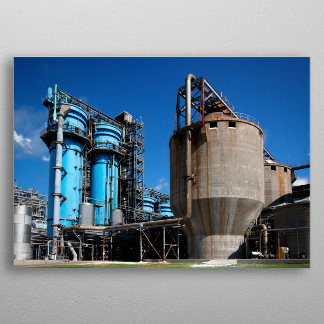 Since 1978, the Alabama River Pulp Company and the Claiborne Mill Complex has been producing southern softwood and hardwood kraft pulps for  metal poster