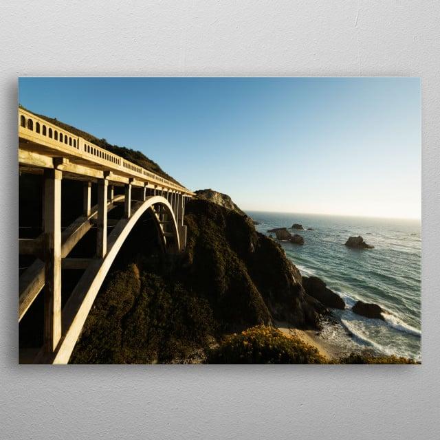 Pacific Coast Highway Scenic  metal poster