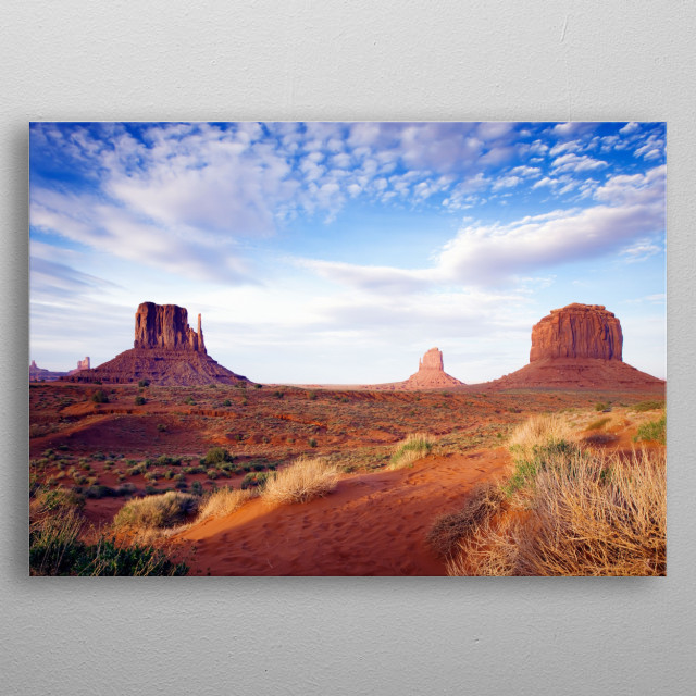 Monument Valley, perhaps the most enduring and definitive images of the American West  metal poster
