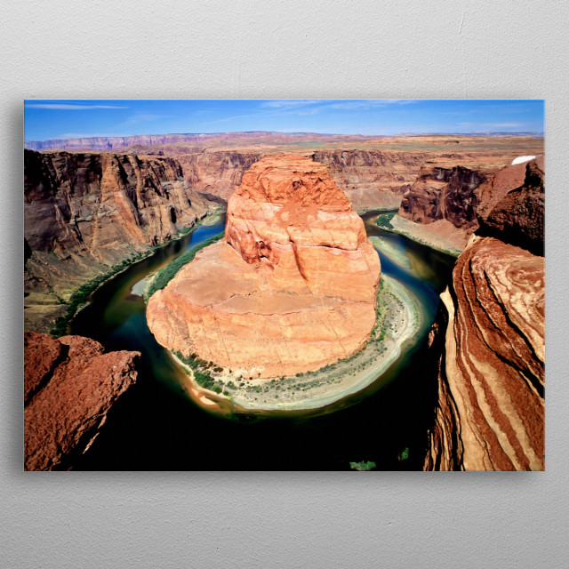 At Horseshoe Bend on the Colorado River in Arizona  metal poster