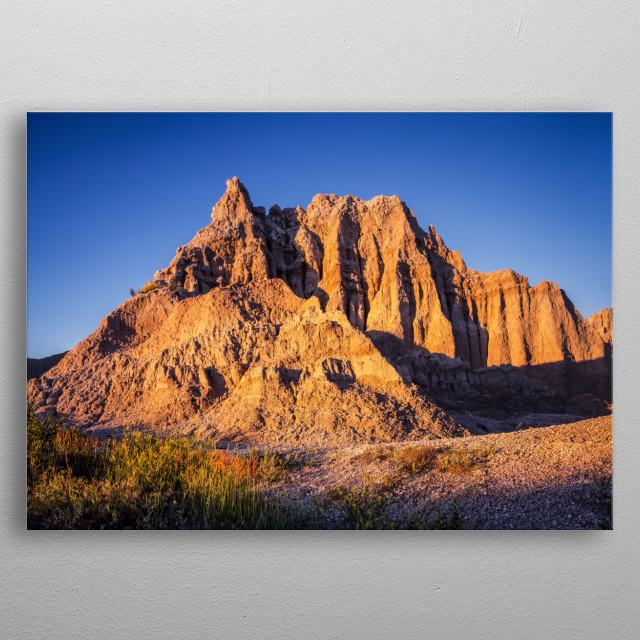 Badlands National Park in South Dakota, USA  metal poster