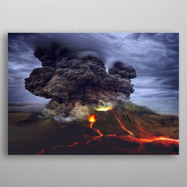 Eruption metal poster