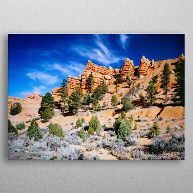 Utah's Red Canyon  metal poster