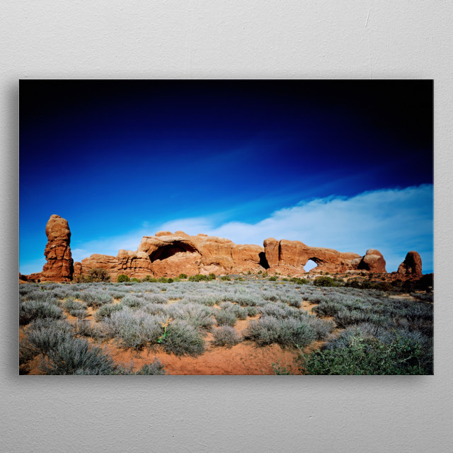 North Window, Arches National Park, Utah  metal poster