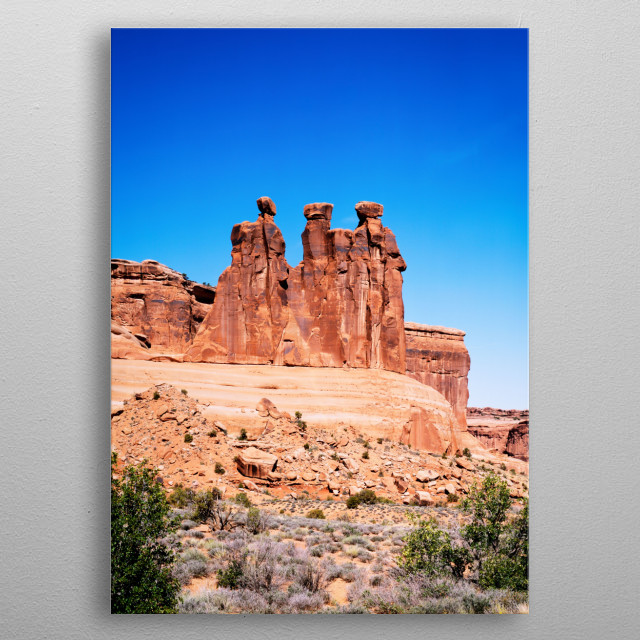 Three Gossips Formation, Arches National Park, Utah  metal poster