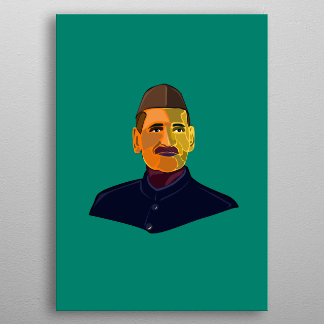 Shankar Dayal Sharma former Indian President. metal poster