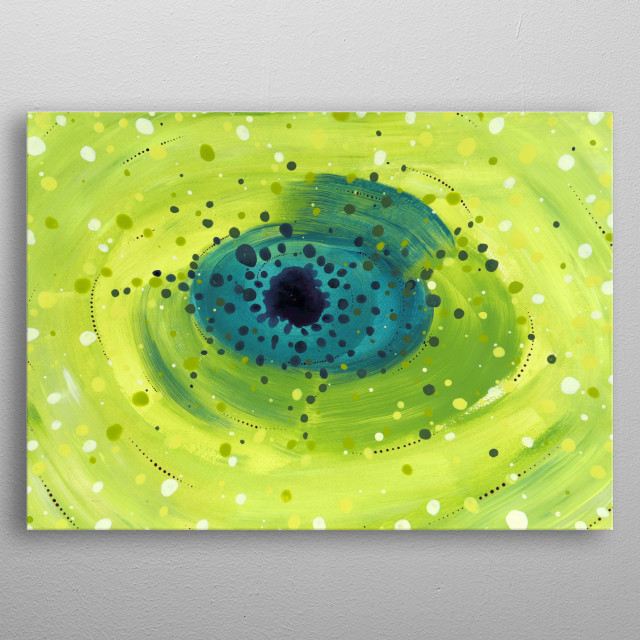 Fantasy green universe from the imagination. metal poster