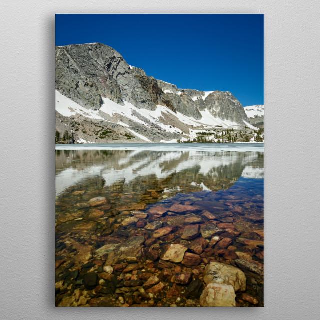 View of Lake Marie in Wyoming's Snowy Range, between Saratoga and Laramie  metal poster