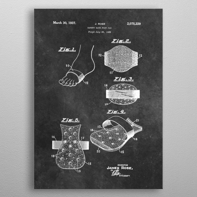 Rose safety bath foot pad 1936 metal poster