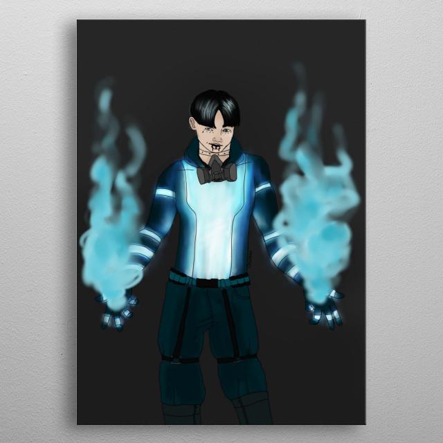 He's my superhero character, Smoke. My hero academy gave me the inspiration. metal poster
