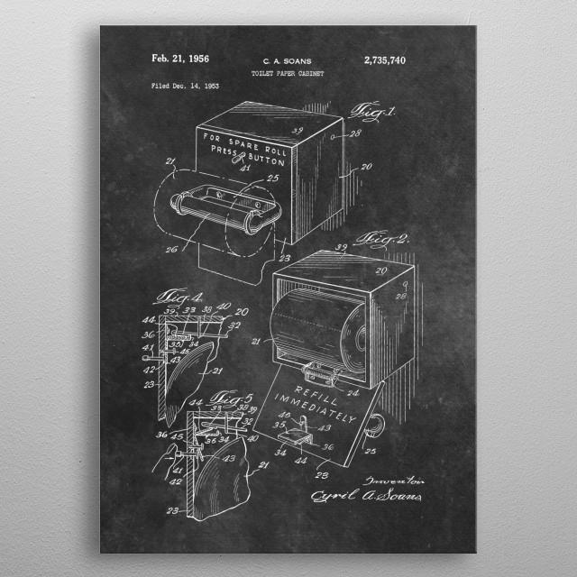 Soans toilet paper cabinet 1953 metal poster