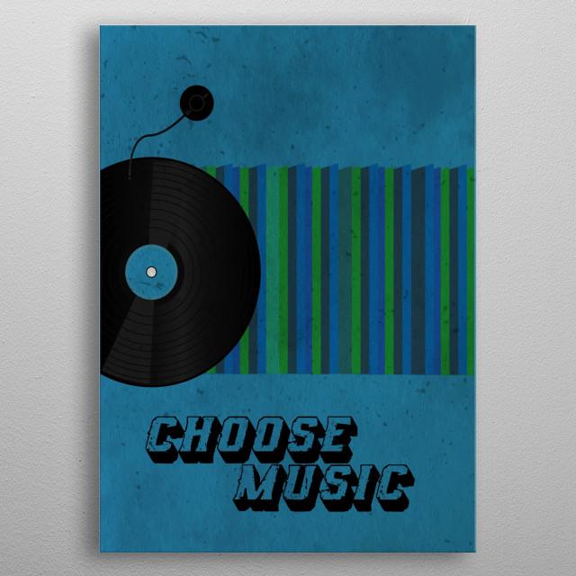 Vintage vinyl artwork metal poster