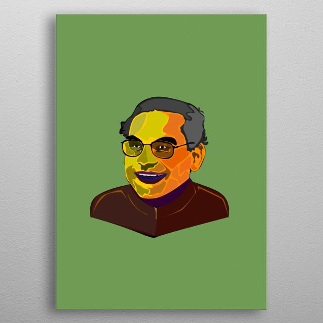 Shri K. R. Narayanan former Indian President. metal poster
