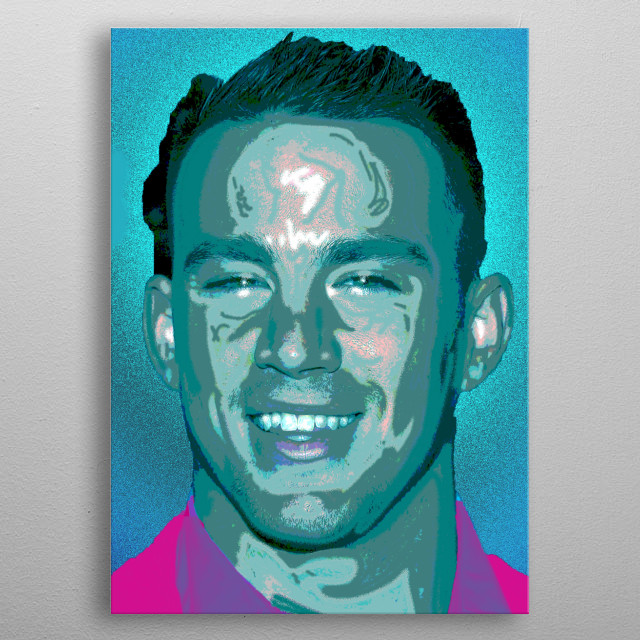 This colourful portrait painting of Channing Tatum was inspired by my love of his acting, love him xxx metal poster