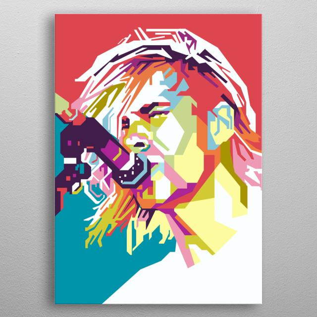 Kurt Cobain in WPAP Art metal poster