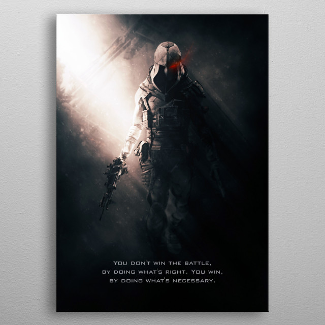 Phantom Slayer is an advance elite soldier and assassin that will do everything to win. metal poster