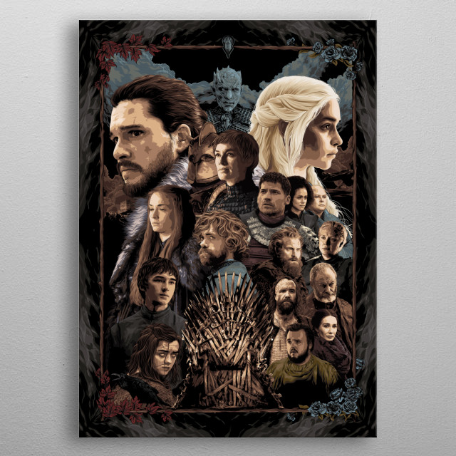 Game of thrones, A song of Ice and Fire themed poster.  metal poster