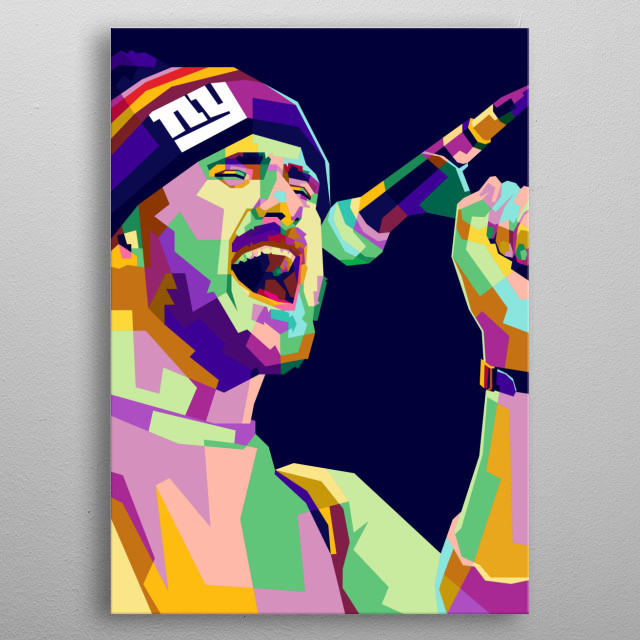 Jesse Lacey Design Illustration Colorful Style metal poster